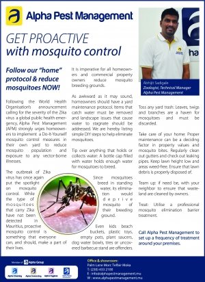 Get Proactive with Mosquito Control